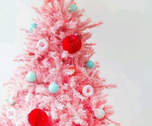 christmas, pink, and cute image