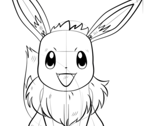 drawing, pokemon, and how to draw evee image