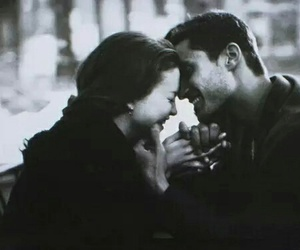 couple, love, and black and white image