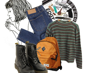 outfit, vintage, and indie image