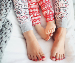 family, pjs, and legs image