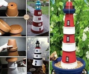 diy, lighthouse, and garden image
