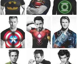batman, superman, and thor image