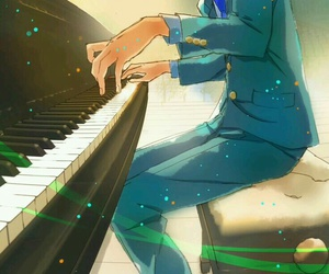 anime, piano, and shigatsu wa kimi no uso image