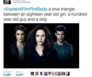 twilight, funny, and movie image