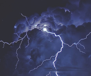 lightning, sky, and storm image