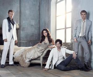 the vampire diaries, klaus, and Nina Dobrev image