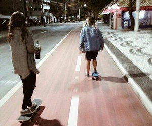 girl, skate, and grunge image