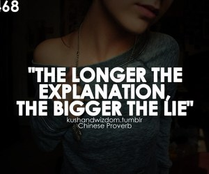 lie and quote image