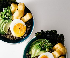 food, tofu, and quinoa image