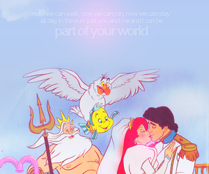 disney quotes and ariel and prince eric image