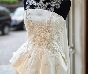 Couture, design, and wedding dress image