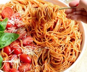 food, tomato, and pasta image