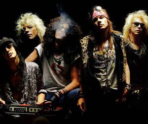 Guns N Roses, slash, and axl rose image