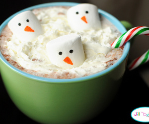 christmas, snowman, and hot ​chocolate image