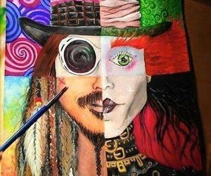 johnny depp, art, and Willy Wonka image