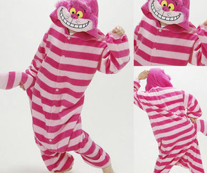 Cheshire cat, pjs, and adult onesie image