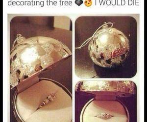 love, christmas, and ring image