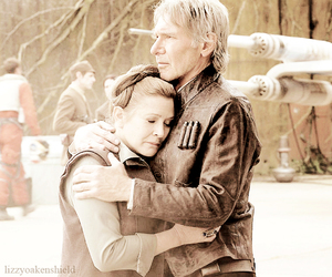 7, carrie fisher, and han image