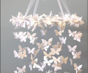 butterfly, white, and diy image