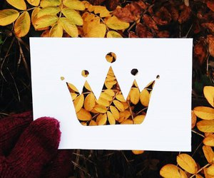 autumn, crown, and Paper image