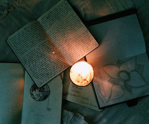 light, book, and grunge image