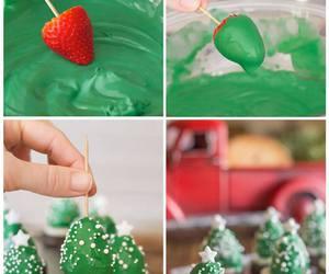 christmas, strawberry, and diy image