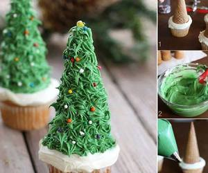 tree, christmas, and cupcake image