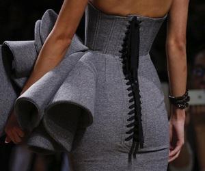 dress, fashion, and grey image
