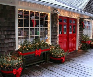 bows, christmas, and decorations image