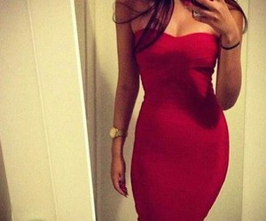 dress, red, and sexy image