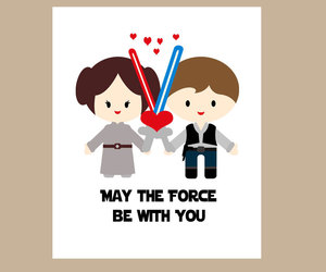 force, star wars, and love image
