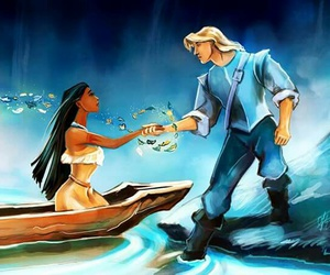 disney, pocahontas, and john smith image
