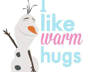 frozen, olaf, and hug image