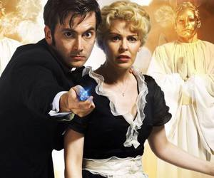 david tennant, doctor who, and kylie minogue image