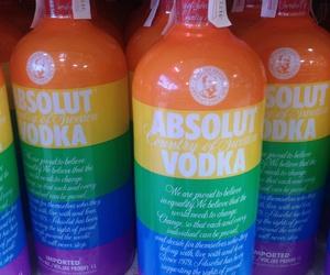 absolut vodka, rainbow, and spain image
