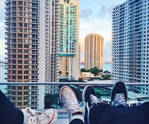city, converse, and love image