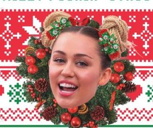 christmas, miley cyrus, and wallpaper image