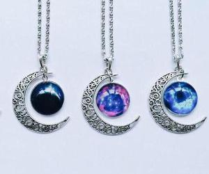 necklace, moon, and beautiful image