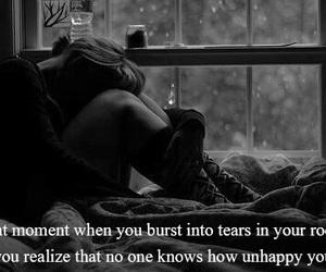 sad, unhappy, and alone image