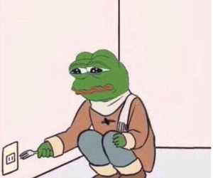 reactions and pepethefrog image