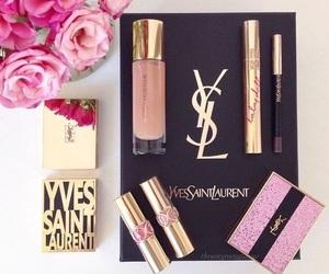 make up, lipstick, and Yves Saint Laurent image