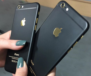 iphone, black, and gold image