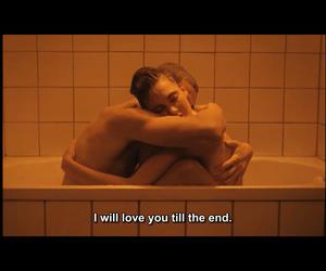 affection, hug, and bathtub image