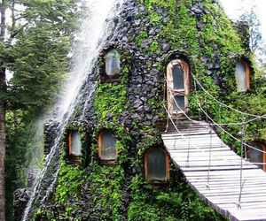 hotel, chile, and nature image