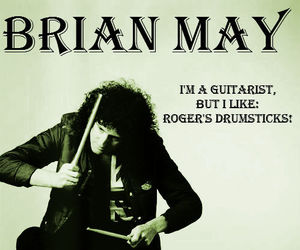 guitarist, Queen, and brian may image