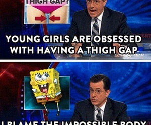 funny, spongebob, and thigh gap image