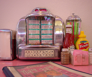 diner, retro, and pink image
