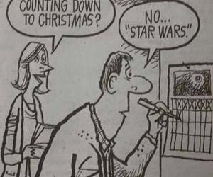 star wars, christmas, and funny image