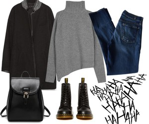 backpack, black, and clothes image
